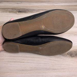 Lucky Brand Shoes - Lucky Eaden Black Leather Ballet Flats